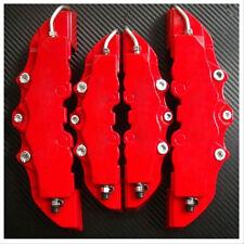 4Pcs  Fasion  3D Cars Parts Caliper Covers Front Rear Red Car Set Kit**US**