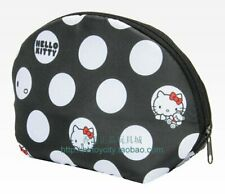 HELLO KITTY POLKA DOT SPACE COTTON LIGHT WEIGHT COSMETIC BAG/COIN BAG  584613