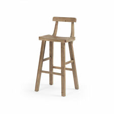 "19.75"" W Set of 2 Charlotte Bar Stool Reclaimed Natural Pine Wood Modern"