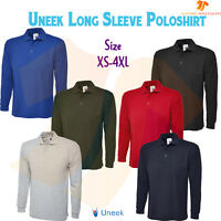 New Mens Womens Long sleeve Polo shirt Full Sleeves Work Casual Leisure Top LOT