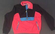 Woolrich Sigmet Gear Nylon Windbreaker Pullover Neon Mango Black Vintage 1990's