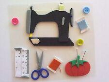 Sewing Machine Scissors Pin Cushion Embellishment / Adornos de Maquina de Coser