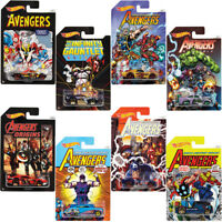 2017 HOT WHEELS AVENGERS INFINITY DIECAST CARS FKD48 1:64 SET 8 ASSORTMENT