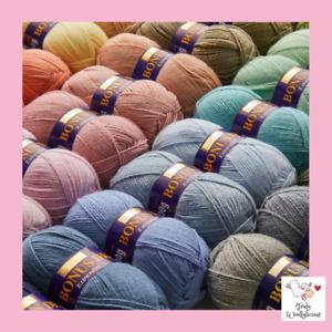 Sirdar Hayfield Bonus DK Extra Value Knitting / Crochet Yarn / Wool  - 100g