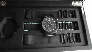 END. x Timex Allied Chronograph 'Blackout' Black & Mint watch