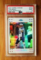 2007 Topps Chrome White Refractor #TC6 TOM BRADY - PSA 9 MINT