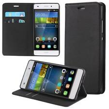 Huawei P8 Lite Wallet Flip Case Cover Motif Bumper Sleeve Protect Pouch Shell