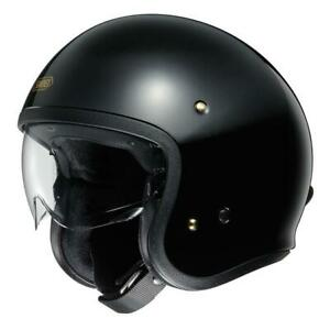 NEW Shoei J.O Open Face Helmet - Black from Moto Heaven