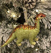 Robert Stanley Brontosaurus Glass Christmas Tree Ornament Dinosaur 6� With Tags