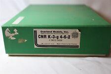 Overland Models CNR K-3-G 4-6-2 Brass Engine Locomotive & Tender UNPAINTED