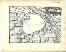 Antique map, Montelimar