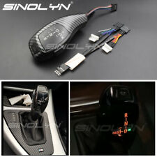 LED Automatic Gear Shift Knob Carbon Fiber For BMW E46 E60 E90 E92 E86 X5 Parts
