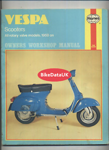 Vespa Scooters Haynes Manual (1959-1974) 90 180 200 Rally Sprint Primavera DS99