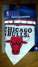 "NBA Pet collar bandana Chicago Bulls for Large Dog 1""wideX18""-28""long"