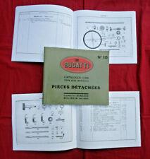 BUGATTI  Brescia 1.5 litre , type  22 / 23    Catalogue pièces  détachées N° 10