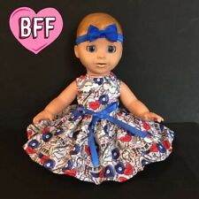 "17"" Dolls Clothes fits Luvabella  fits Baby Born Dolls. Dolls Dress / Outfit."