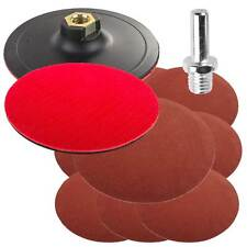 10 Drill/angle Grinder Mount 125mm Mixed Grade Sanding Disc & Rubber Backing Pad