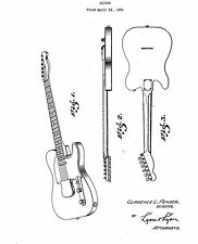 FENDER Guitar - Copy of Patent dated 1951