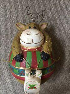 """⭐️Paper Pulp Reindeer w/ Metal Antlers 6"""" x 4"""""""