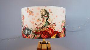 Alice in Wonderland Lampshade - Drum Lamp shade 30cm 40cm Mad Hatter Ceiling