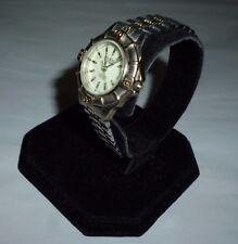 Ladies Guess Waterpro Dual Tone WR 50M Date Analog Quartz Watch Link Band