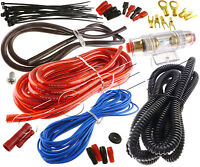 8 Gauge Amp Kit Amplifier Install Wiring Complete 8 Ga Installation Cables 1575W