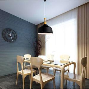 Black Pendant Light Office Modern Ceiling Lights Lobby Wood Chandelier Lighting
