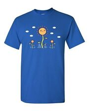 Randy Otter Sun Flower Seeds Flower Cute Funny Arts Portray DT Adult T-Shirt Tee