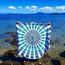 Cotton Mandala Roundies Beach Throw Indian Mandala Round Tapestry Yoga Mat Pi...