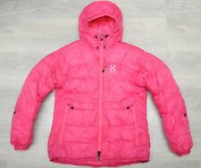 HAGLÖFS BELAY PINK WOMEN'S - GOOSE DOWN insulated winter PUFFER COAT - SMALL
