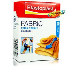 Elastoplast Fabric Extra Flexible Breathable 40 Assorted Strips Plaster