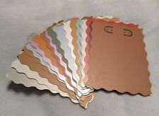 NEW Handmade Earring jewelry display card, 3x4, 25 pcs, metallic fancy edge
