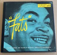 """FATS"" WALLER! FATS PLAYING, SINGING... ORIG 1954 JAZZ MONO 2 LP VINYL W BOOKLET"