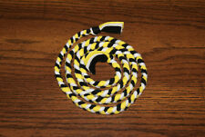 New 4 1/2 ft Pittsburgh Steelers Colors Handmade Braided Fleece Cat Toy Free S/H