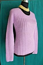 Eileen Fisher Lilac Scoop Neck Sweater Sz M Rayon Nylon Angora Long Sleeve