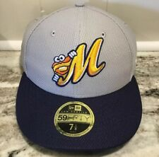 New Era 59fifty Montgomery Biscuits Size 7 1/8 Fitted Hat MiLB Baseball Cap