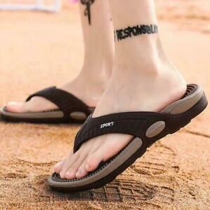 Mens Slipper Shoes Beach Massage Flip-Flops Summer Thong Classic Sandals Shoes