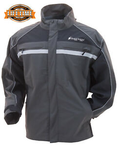 🔥Frogg Toggs Pilot Illuminator Waterproof Rain Jacket Black Charcoal Grey 2XL