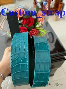 Blue Belly Real Alligator Leather Skin women's Belt Buckle/ Crocodile Belt's