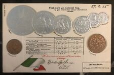 1905 London England Postcard Cover To Paris France Mexican Coins