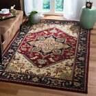 Handmade Heritage Asia Traditional Oriental Wool Rug - 9' x 12' - Red