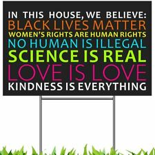 Revtronic We Believe Lawn Sign, Black Lives Matter Science Human Rights.