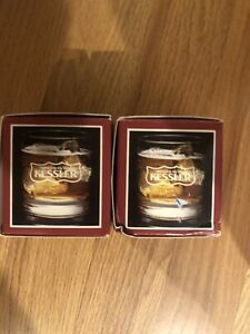 2 Kessler Smooth As Silk Collectors Series Whiskey Scotch Glasses W/ Box