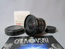 CANON SUPER WIDE ANGLE FISHEYE1.6/3.5mm C-MOUNT LENS BOLEX 16MM MOVIE CAMERA