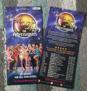 Strictly Come Dancing : The Professionals Promotional 2020 UK Tour Flyer