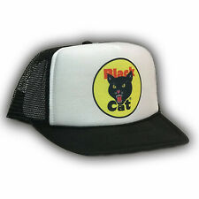 Black Cat Fireworks Trucker Hat 4th of July Vintage 80's Style Snapback Black