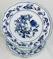 "4 Japan BLUE DANUBE* 8 3/4"" LUNCHEON PLATES* SCROLL LOGO *"