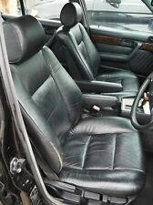 BMW Front Seat Set E34 Black Leather With Armrests S2783