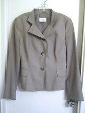 Akris Punto 10 Light Gray 100% Wool Jacket Blazer Switzerland --Mint!