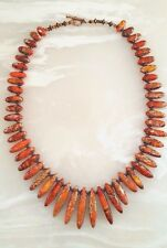 NEW Sundance Fashion ORANGE JASPER Statement Necklace NWOT ~ Gift Box FAST SHIP!